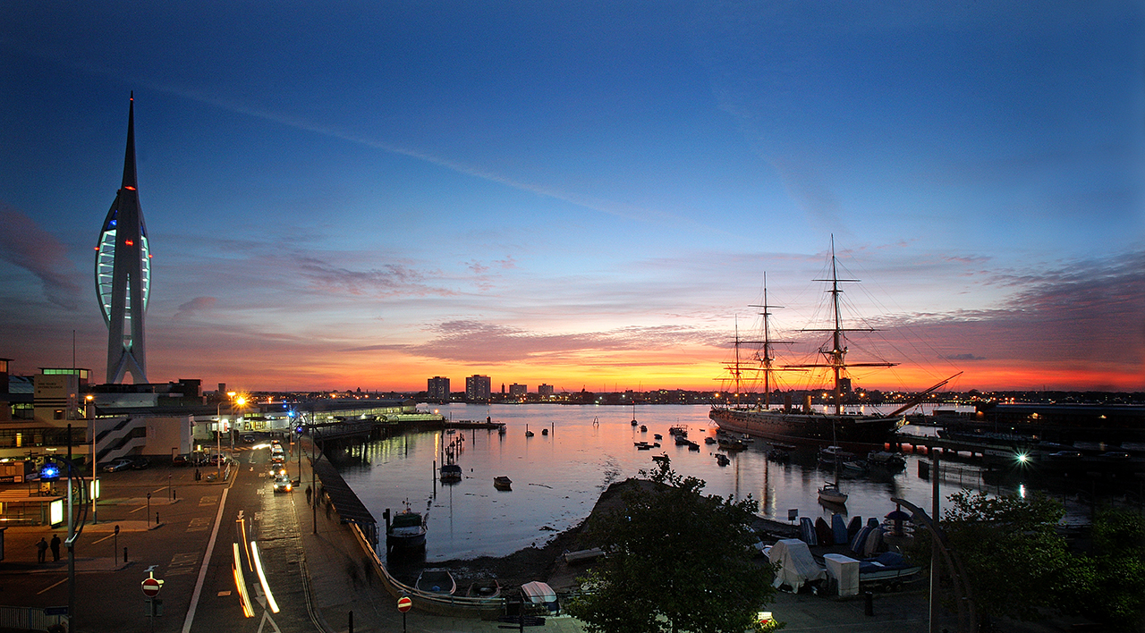 Portsmouth Harbour @ Sunset Blue Harbour 1280×720